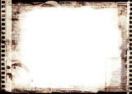 Equipo había diseñado frontera de grunge muy detallado con espacio para texto o imagen. Capa de gran grunge para sus proyectos.  Foto de archivo - 7329584