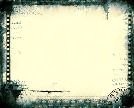 burnt edges: Computer designed highly detailed film frame with space for your text or image.Nice grunge element for your projects