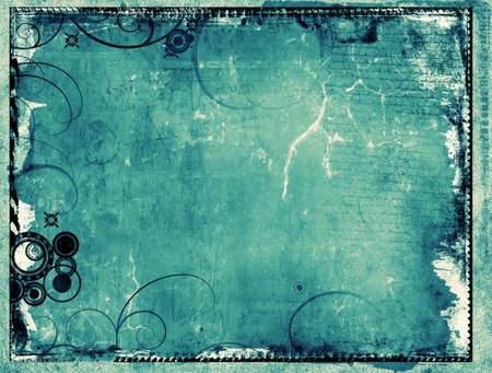 Computer designed highly detailed grunge border and background with space for your text or image. Great grunge layer for your projects. photo