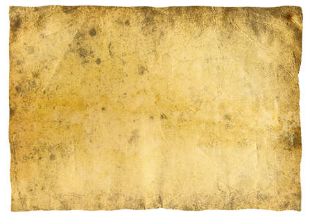 Highly detailed textured antique  paper isolated on white , great grunge background for your projects  with space for your text or image Stock Photo - 7330106