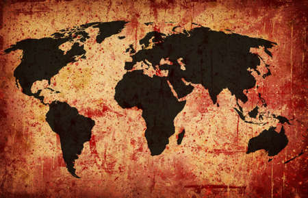 Computer designed grunge world map background Stock Photo - 7330027
