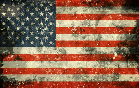 Computer designed highly detailed grunge illustration - Flag of USA Banque d'images