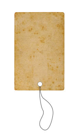 High res paper tag Isolated on white background Stock Photo - 7479693