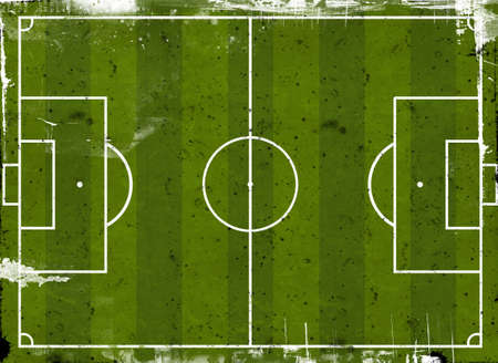 Grunge style illustration of a football pitch