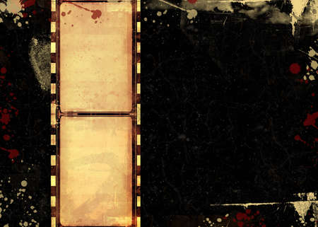 paper strip: Computer designed highly detailed film frame with space for your text or image.Nice grunge element for your projects