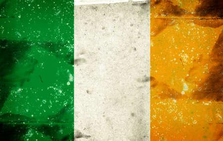 Computer designed highly detailed grunge illustration - Flag of Ireland