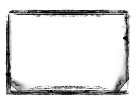 nakładki: Computer designed highly detailed grunge border over white with space for your text or image. Great grunge layer for your projects.More images like this in my portfolio