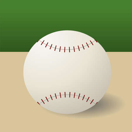Editable modern vector baseball background Stock Vector - 7533572