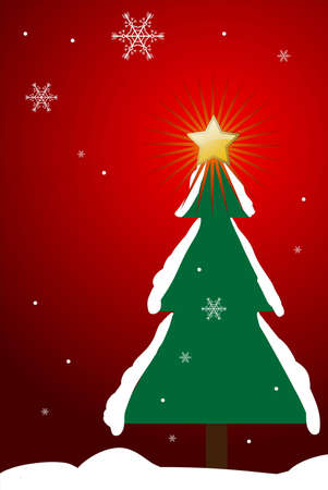 Editable vector Christmas background with space for your text Stock Vector - 7533713