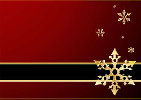 december holidays: Editable vector winter background with space for your text