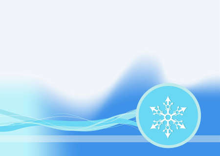 Editable vector winter background with space for your text Stock Vector - 7533647