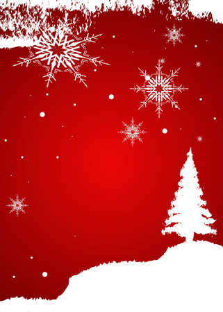 year curve: Editable vector Christmas background with space for your text