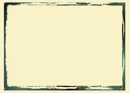 Vecteur modifiable frontière noire en détresse. Bel élément grunge pour vos projets. Plus d'images comme ça dans mon portfolio Vecteurs