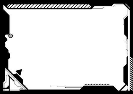 futuristico: Vettoriali modificabili ad alta tecnologia futuristica cornice con spazio per il vostro testo o immagine