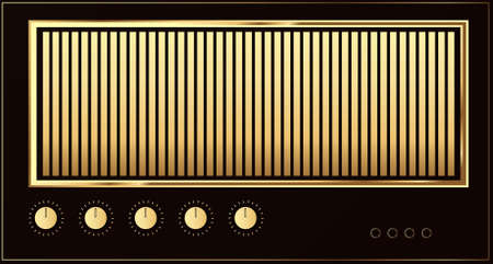 Editable vector retro guitar amp background Stock Vector - 7533632
