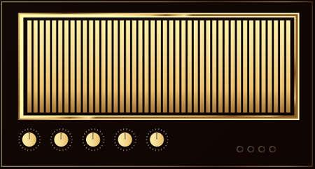 Editable vector retro guitar amp background Stock Vector - 7533632