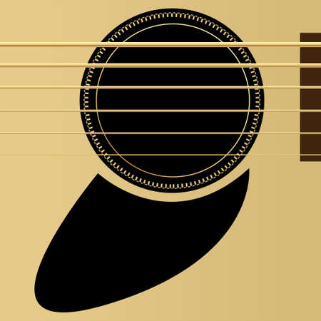 Editable vector illustration - Acoustic guitar close up Stock Vector - 7533640