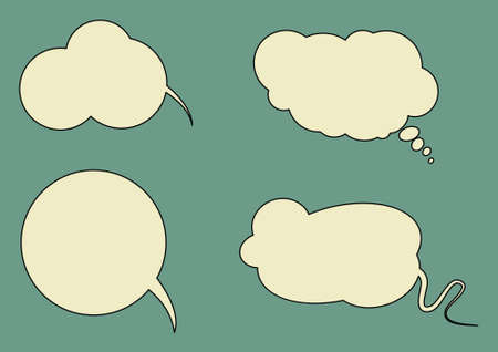 conversing: Set of vector speech bubbled with space for your text