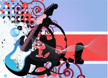 popular music concert: Sfondo di musica grunge vettoriale modificabile moderno con spazio per il testo  Vettoriali