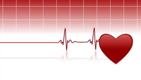 hilfsmittel: Editable Vector Background with Space for Text - Herz und Heartbeat-Symbol