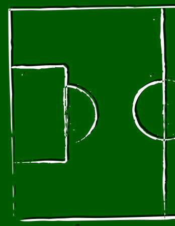 ballsport:  illustration of a football pitch