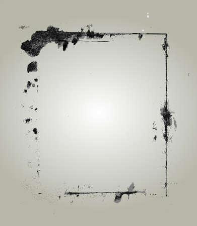Marco de grunge muy detallado con espacio para texto o imagen. Grunge gran marco para sus proyectos  Foto de archivo - 7678112