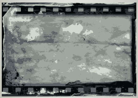 grunge film frame background with space for your text or image. Stock Vector - 7678110