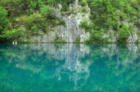 Beautiful landscape of a green lake Stock Photo - 7736585
