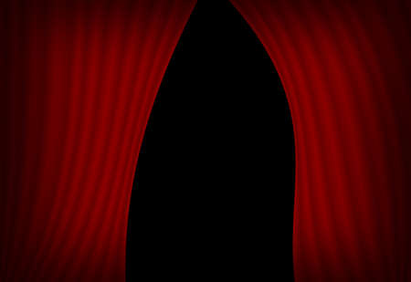 Computer designed illustration of red curtains with space for your text or image Stock Illustration - 8024268