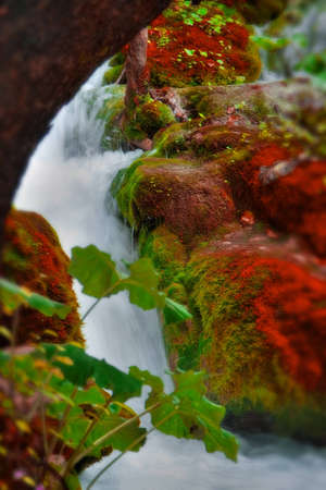 Beautiful waterfall at Plitvice Lakes National Park , UNESCO World Heritage Center. Stock Photo - 8024283