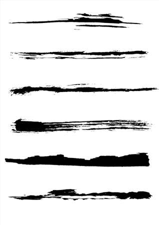 A set of grunge brush strokes (individual objects). Stock Photo - 8017524