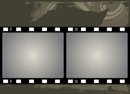 Editable grunge film frame background with space for your text or image.  More images like this in my portfolio photo