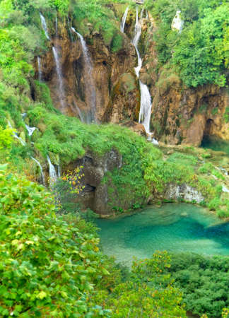 Beautiful waterfall at Plitvice Lakes National Park  Stock Photo - 11076898