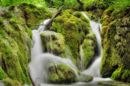 Beautiful waterfall at Plitvice Lakes National Park Stock Photo - 11076914