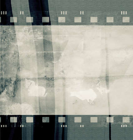 Computer designed highly detailed film frame photo