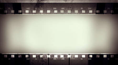 layer masks: Computer designed highly detailed film frame Stock Photo