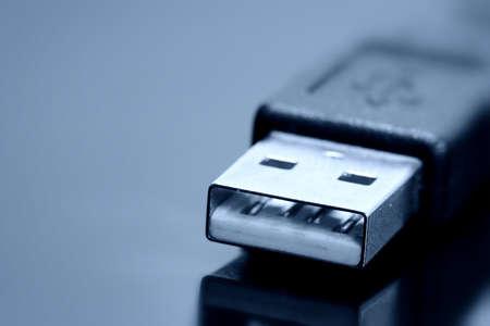 usb storage device: USB cable close up photo