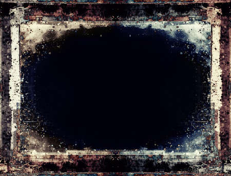 Computer designed highly detailed grunge frame  with space for your text or image. Great grunge layer for your projects. 版權商用圖片 - 11120547