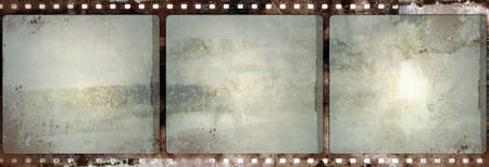 Computer designed highly detailed film frame with space for your text or image. Nice grunge element for your projects.  photo