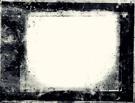 grunge layer: Computer designed highly detailed grunge frame  with space for your text or image. Great grunge layer for your projects.  Stock Photo