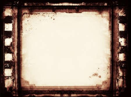 quemado: Ordenador diseñado fotograma de la película muy detallado con espacio para el texto o elemento image.Nice grunge para sus proyectos
