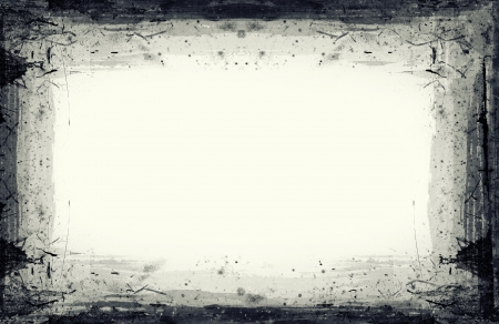 Highly detailed grunge frame  with space for your text or image. Great grunge layer for your projects. Stock Photo - 18362197