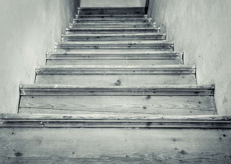 scarry: Old stairs to the attic Stock Photo