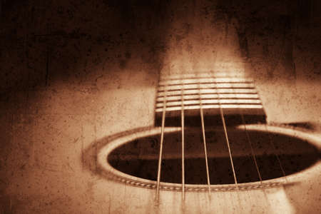 Grunge textured guitar background with space for your text photo
