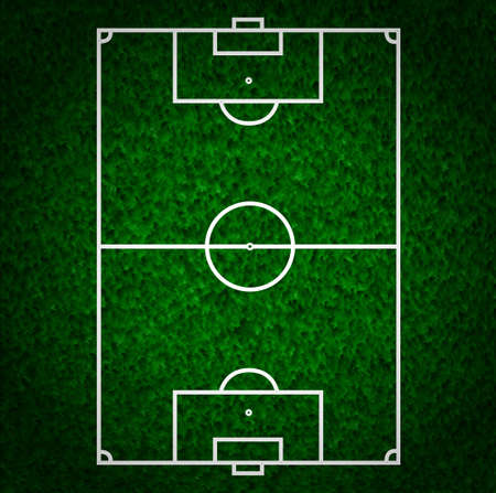 Football (Soccer Field) illustration with realistic macro grass texture and space for your text.
