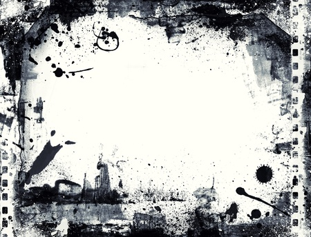 Highly detailed grunge frame  with space for your text or image. Great grunge layer for your projects. Stock Photo - 18398303