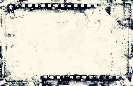 high detailed: High detailed grunge film frame with space for your text or image.