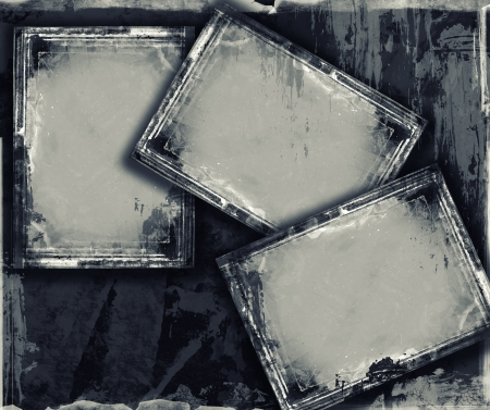 Highly detailed grunge frame  with space for your text or image. Great grunge layer for your projects. Stock Photo - 18745168