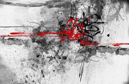 CUADROS ABSTRACTOS: Altamente detallada grunge textura collage abstracto con espacio para el texto