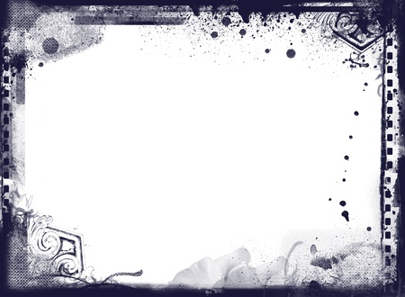 Highly detailed grunge frame  with space for your text or image. Great grunge layer for your projects. Stock Photo - 18745198